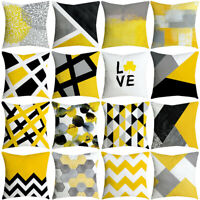 Pillowcase Leaf Yellow Pillow Case Sofa Car Waist Throw Cushion Cover Home Decor