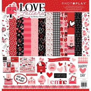 LOVE LETTERS Collection Pack 12X12 Scrapbooking Kit Photo Play LVL2524 New