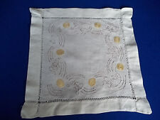 """Odd Square Doily with Words + silk round design Embroidery 12 x 12 """" Bible Verse"""