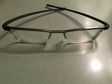 Tag Heuer reflex half rimless frames unique rare model silver with black temples