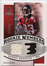Harry Douglas 2008 Upper Deck SP Rookie Threads Rookie Numbers Relic #D /135