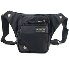 Men's sport travel Fanny pack waist bag + shoulder Messenger bag 2 in 1 Black