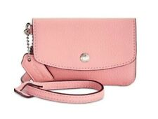 NEW COACH Mini Envelope Wristlet Women's Pink Leather Wallet 28329B