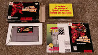 Metal Warriors Super Nintendo SNES Video Game CIB Complete lot TESTED AUTHENTIC!