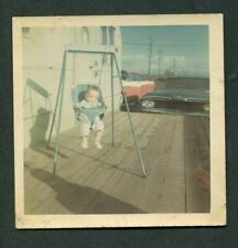 Unusual Photo Baby Swing Travel Trailer Mobile Home 1959 Chevy Car 383162