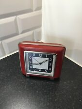 Vintage Antique Retro Funky Bedside Clock + Alarm batteries Fitted & Included