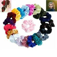 Pack of 12 Velvet Hair Band Scrunchie Ponytail Holder Soft Velveteen  for Womens