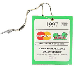 1997 Colonial Player Guest Pass Ticket Tiger Woods David Frost Craig Stadler