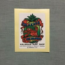 Vintage Kalakaua Okinawa Surf Shop Hawaiian Japanese Sticker Decal