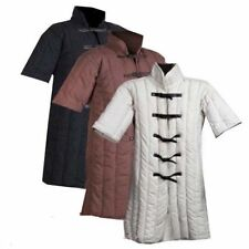 Medieval Thick Black Padded Gambeson Costumes Suit of Armor Larp Sca