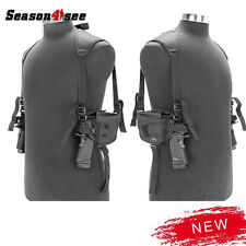 Tactical Left Right Hand Gun Pistol Holster Bag Double Shoulder Airsoft Hunting