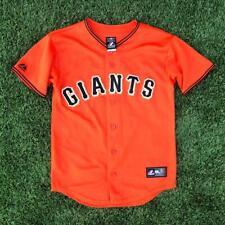 YOUTH USA Made Orange Majestic San Francisco Giants Baseball Jersey Youth L