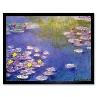 Claude Monet Nympheas At Giverny Old Master Painting 12X16 Inch Framed Art Print