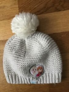 Baby Girl Grey Disney Frozen Knitted Hat 6-18 Months