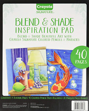Crayola Signature Blend & Shade Inspiration Pad 40 Pages