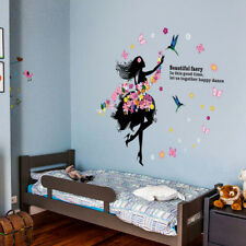 Dancing Flower Fairy Wall Art Sticker Removable Decal Vinyl Mural DIY Home Decor