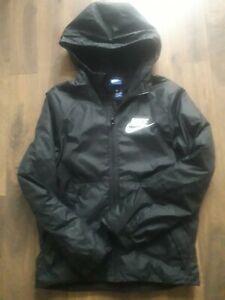Boys black Nike waterproof hooded coat age 12-13