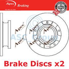 2 X Apec BRAKING 288mm Solide Original Qualität Ersatz Bremsscheiben (Paar)