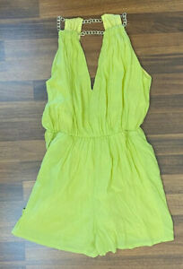BNWT Madison Square Lime Halter Neck Jumpsuit with Back Zipper Size XS
