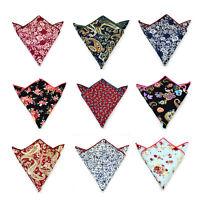 Cotton Party Men Pocket Paisley Floral Square Hankie Handkerchief