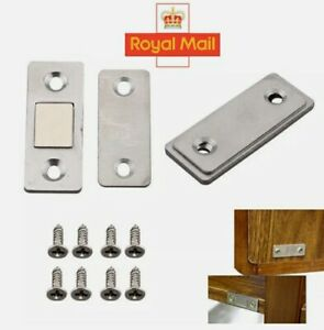 2 x Ultra Thin Strong Magnets Door Cabinet Cupboard Magnetic Catch Latch Slim