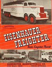 Old Print. White 1946 Eisenhauer Twin Engine Freighter Truck