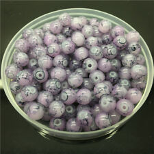 30Pcs 8mm Double Color Glass Pearl Round Spacer Loose Beads Jewelry Making 8#72