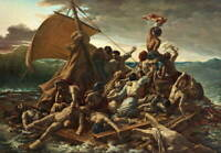 Theodore Gericault The Raft of the Medusa Poster Giclee Canvas Print
