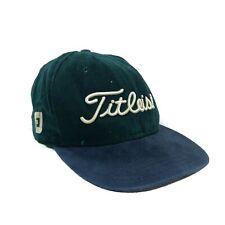 vtg 90s made in usa new era TITLEIST golfing hat cap strapback green