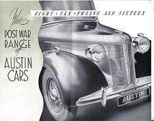 Austin Eight Ten Twelve Sixteen 1945-46 original Sales Brochure IRISH market