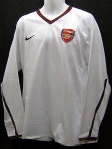 NIKE ARSENAL Football Club 2007 2008 Player Issue L/Slvd Shirt No Sponsor XL