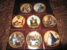 Knowles Collector Plates Norman Rockwell's Colonials Set of 8 in Box with COA's