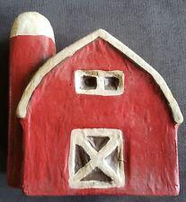 Vintage - Paper Mache Barn - Farm House Decor - Excellent Detail - Folk Art