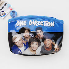 ONE DIRECTION POP GROUP GIRLS BEAUTY POUCH BAG BLUE BINDING