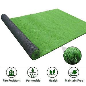 Green Artificial Grass Turf Mat Fake Grass Carpet Lawn Landscape Rug Outdoor