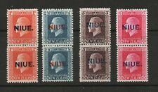 NIUE SG 281a-31b GV 1920 VERTICAL   PERFS DIFFER  14 X 13.5 & 14 X 14.5  MNH