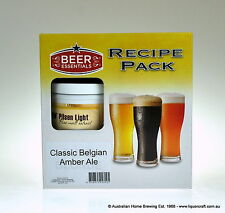 Beer Recipe Kit Classic Belgian Amber Ale recipe home brewing supplies kits