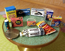 Kitchen Pantry Set Dessert & Processed Food 10pc Dollhouse 1:12 Miniature Food