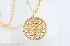 Tree of Life Necklace Once Upon a Time Queen Regina Necklace Yellow Gold