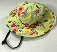 Patagonia baby Wide Brim Hat 100% Cotton Safari Camping Cap M GIRLS Yellow
