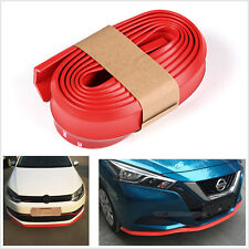 Red Car Front Bumper Spoiler Lip Kit Splitter 2.5M Protector Body Kit Rubber