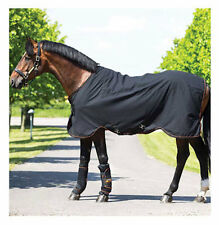 Horseware Ireland Rambo Ionic Stable Sheet-Black/Black & Orange Stripe-78""