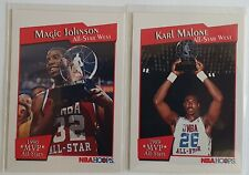 Lot de 2 Cartes Basketball NBA Hoops 91/92 Magic / Malone