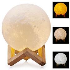 3D Moon Lamp USB LED Night Light Moonlight Gift Touch Sensor Color Changing CN