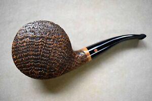 Moretti Pipe Emblem Magnum Golden Contrast Sandblasted Blowfish Freehand