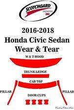3M Scotchgard Paint Protection Film Clear Bra Fits 2016 2017 2018 Honda Civic