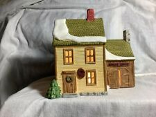 Department 56 New England Village House Saddles & Boots, Livery Stable Lights Up