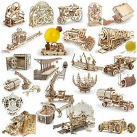 UGEARS Mechanical Laser Cut Wooden Model Kits Choice of models from Scroll Down