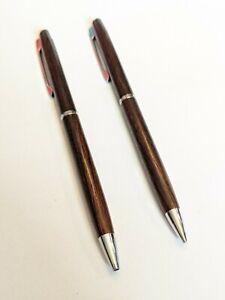 Hallmark Cordia Rosewood and Chrome Pen/Pencil Set - Mint Condition