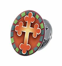 Sign of Hope Cross Lapel Pin (YC036) NEW Carded Christian